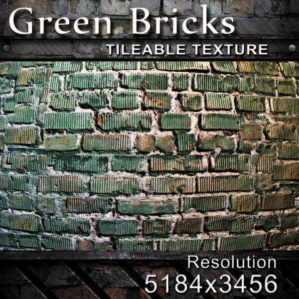 Green Bricks Texture