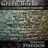 Green Bricks Texture