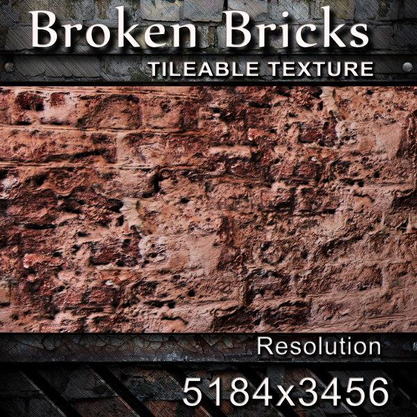 Broken Bricks Texture