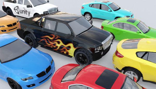 3d model cars trucks video