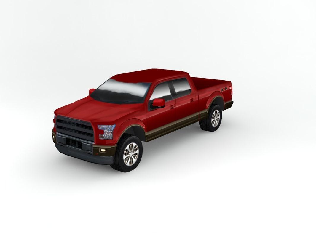 3d generic pick truck model