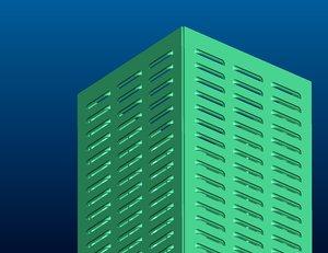 3d model ventilating box