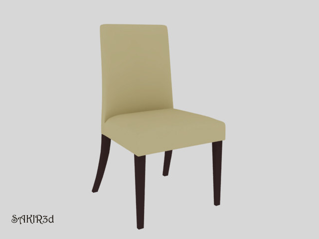 3d model realistic chair