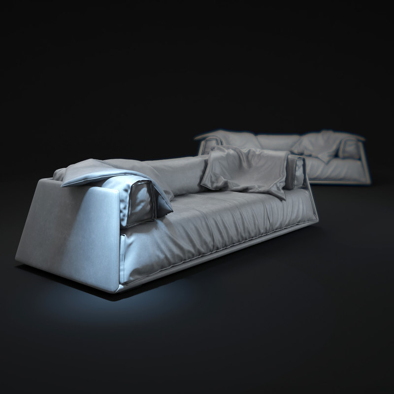 3d model of hard soft-sofa