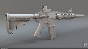 3d hk416 rifle
