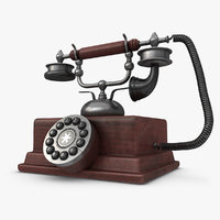 max realistic antique telephone