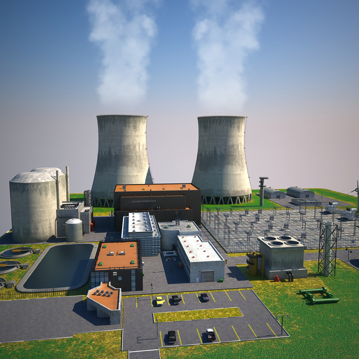 3d max nuclear power plant station