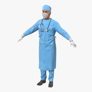 male surgeon mediterranean 3d obj