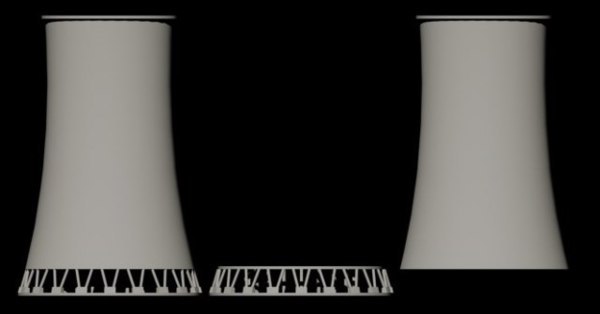 cooling towers 3d dwg