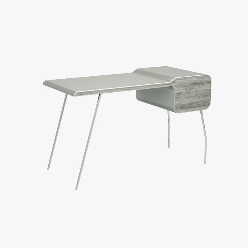 arch desk 3d 3ds