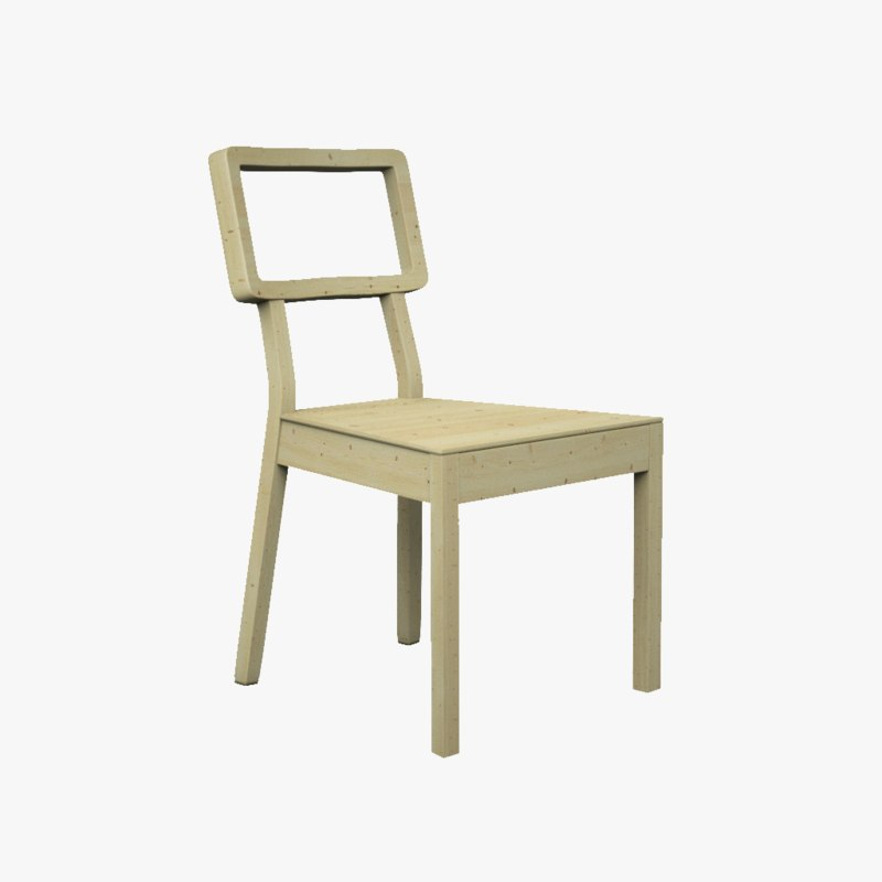 solid chair 3d obj