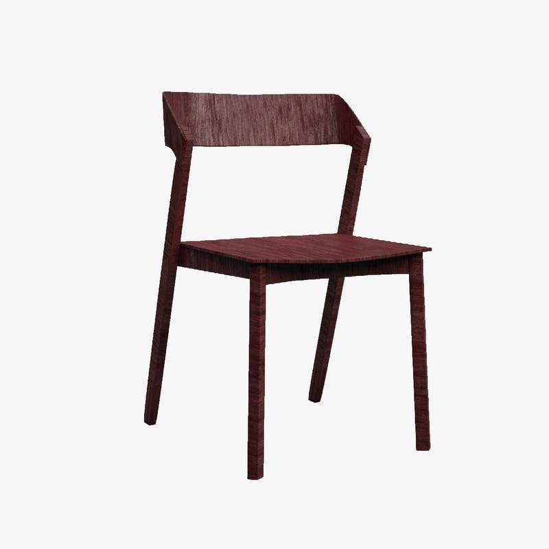 3d solid armchair blender model