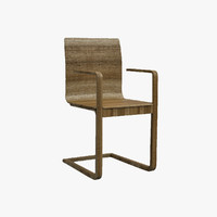 solid armchair 3d dxf