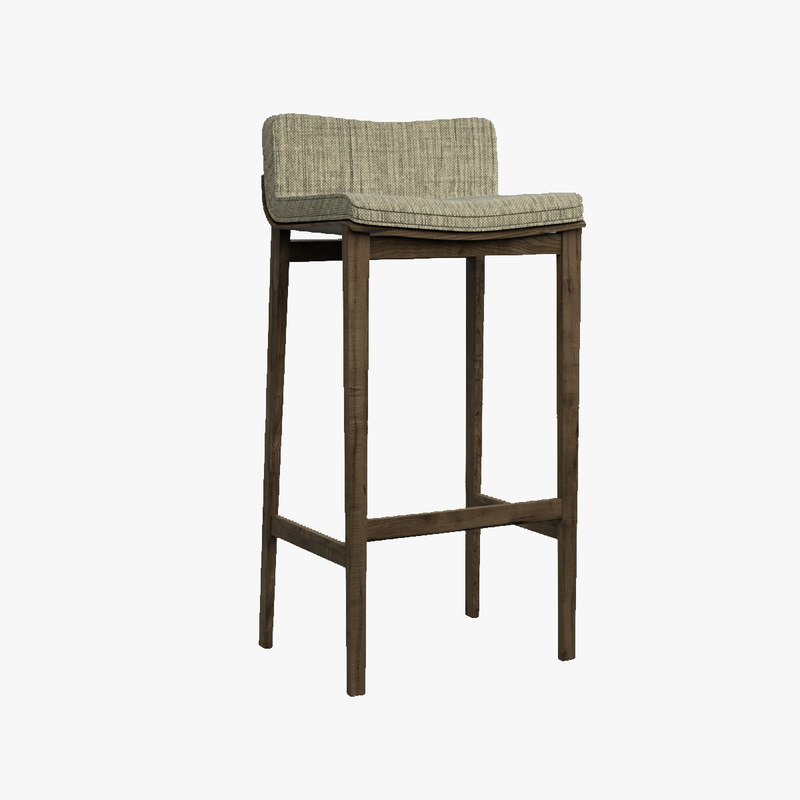 3d solid barstool