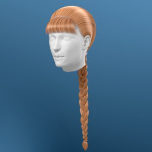 3d model hair braid