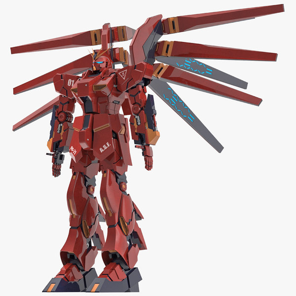 giant robot gundam 3d max