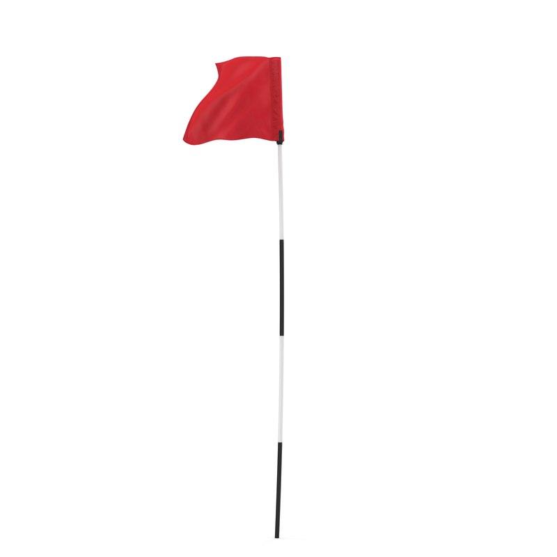 golf flag 3 3d model