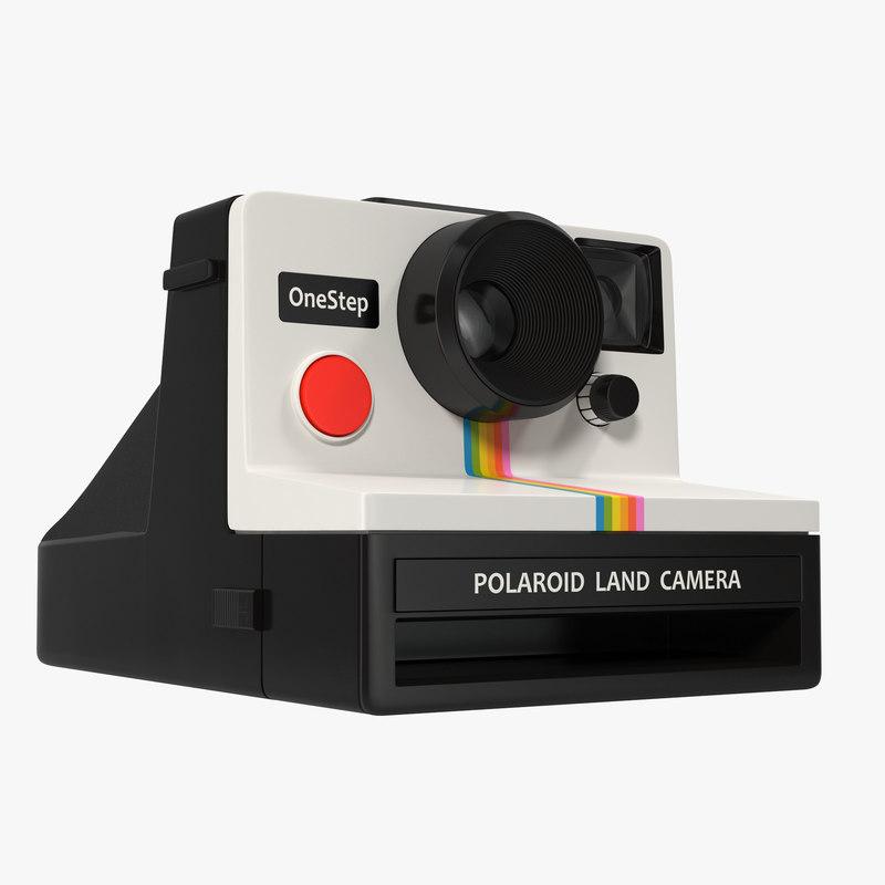 3d model polaroid film camera