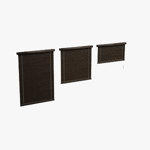 shutters dark wood 3d model
