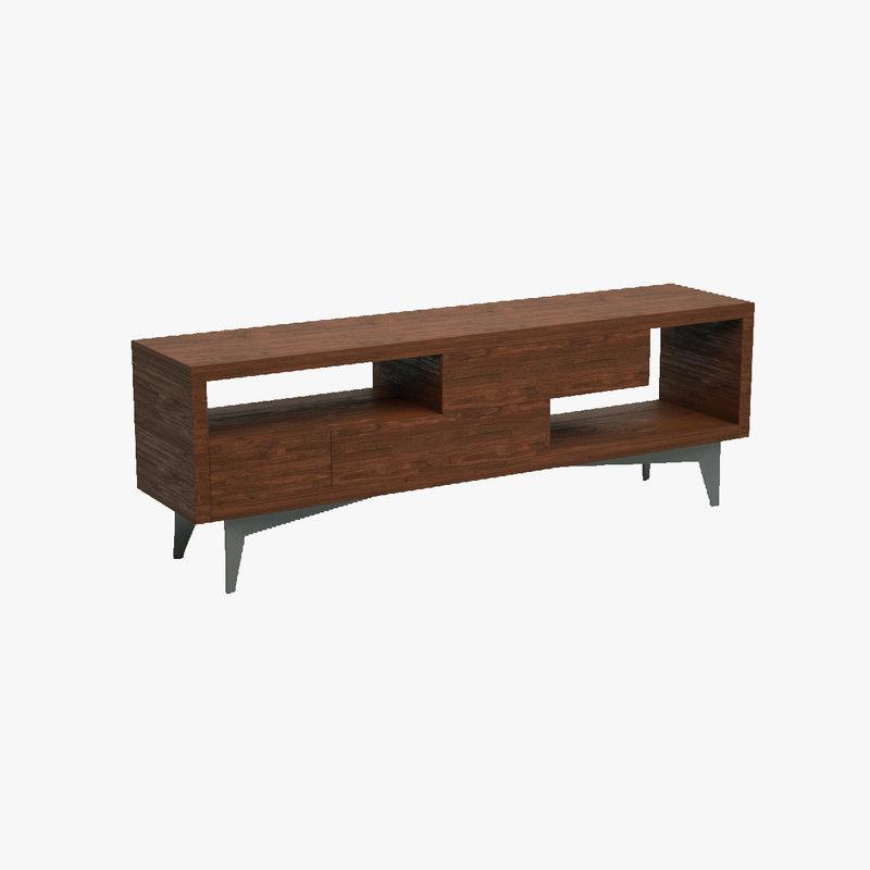 3d model of sideboard blender rendered
