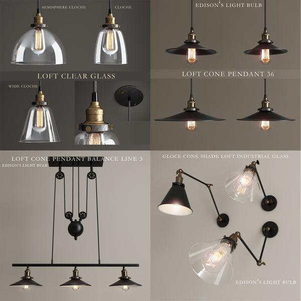 lights loft lamps 3d max