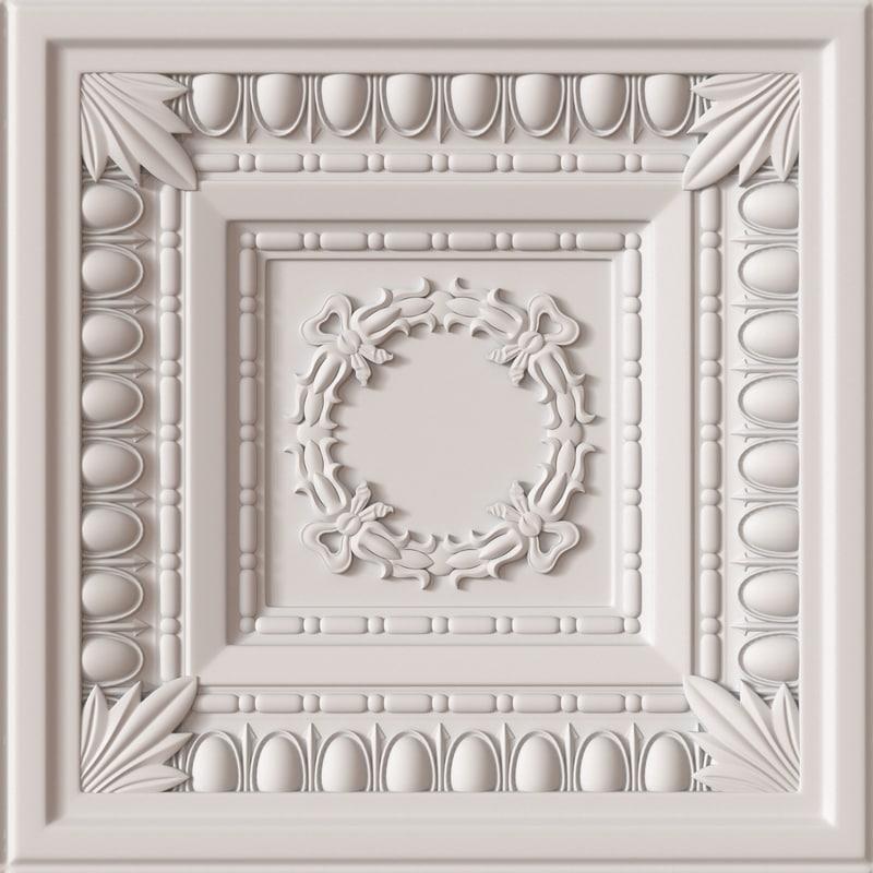 decorative ceiling tile 3d max