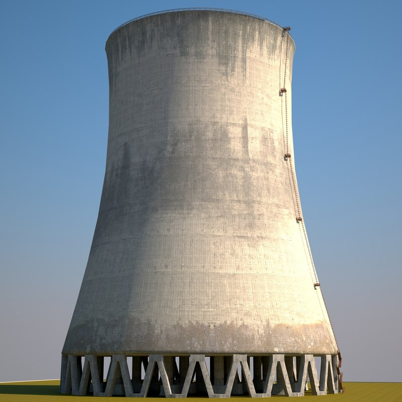 cooling tower 3d max