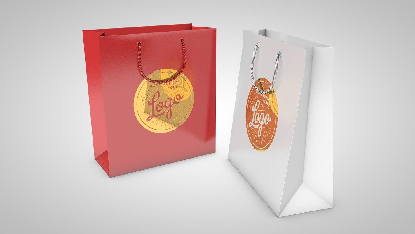 c4d shopping bags