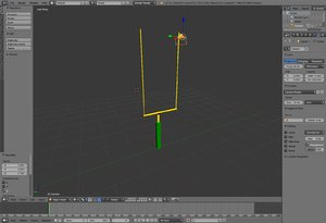 3d goal post model