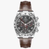 Rolex Daytona Grey Dial Leather Strap
