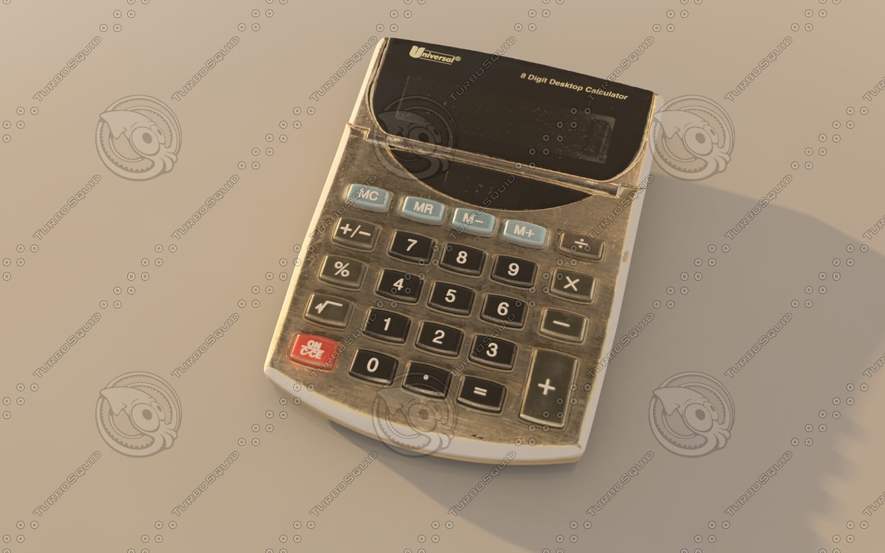 3d model calculator realistic