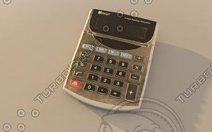 3d model calculator realistic