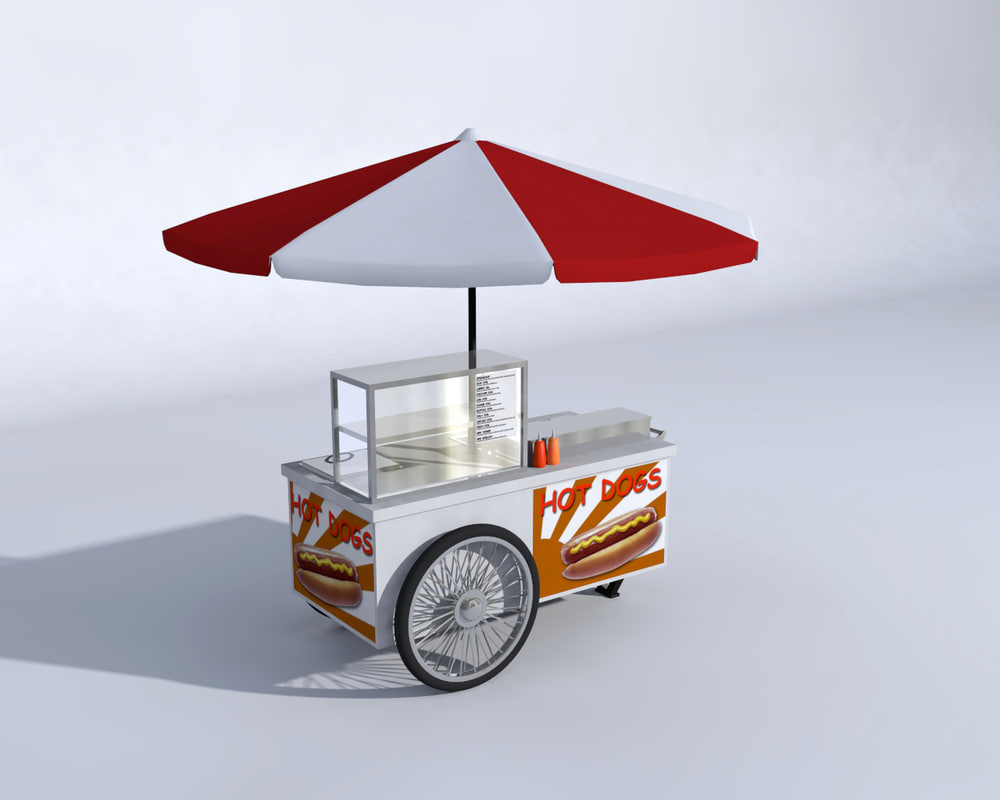 hotdog stand 3d model