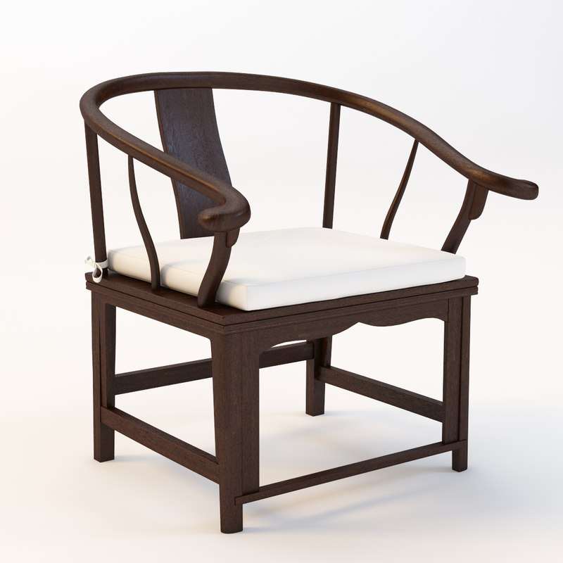 antique chinese chair 3d 3ds