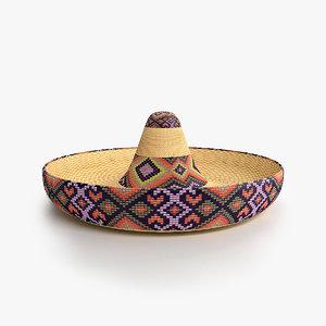 3ds max sambrero hat
