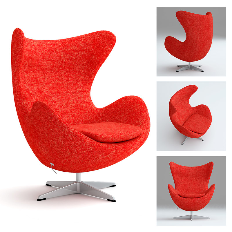 realsize egg chair 3d 3ds