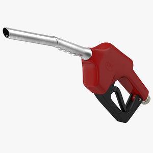 gas pump red 3d max