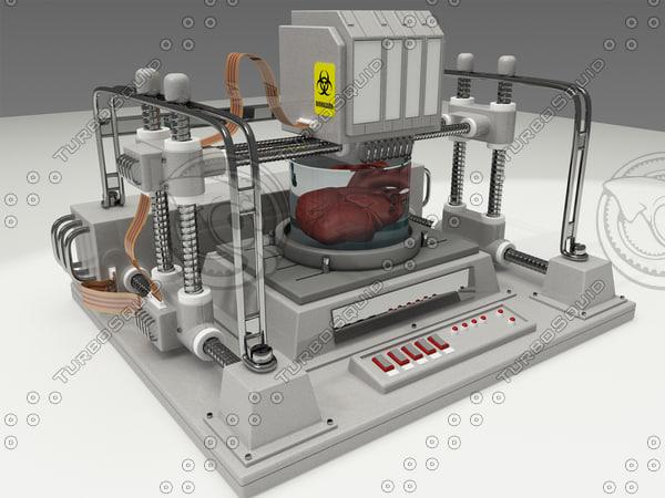 human anatomy bioprinter bio 3d model