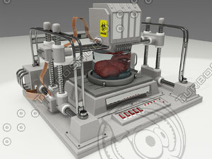 human anatomy bioprinter bio 3d model
