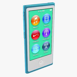 3dsmax ipod nano blue