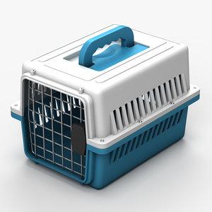 3d pet carrier cage model