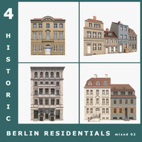 3d model 4 historic berlin residentials
