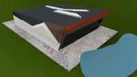 3d model of architectural villa