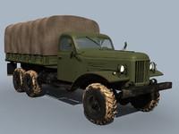3d zil-157 truck cargo