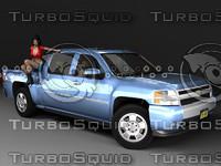 3d chevrolet silverado crew gmt900
