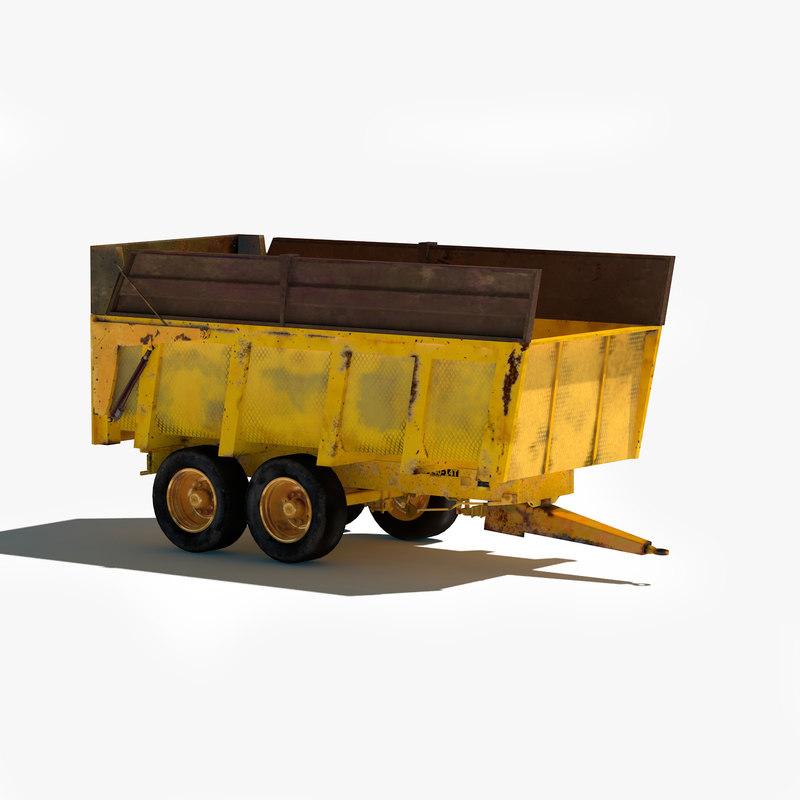 cargo trailer obj