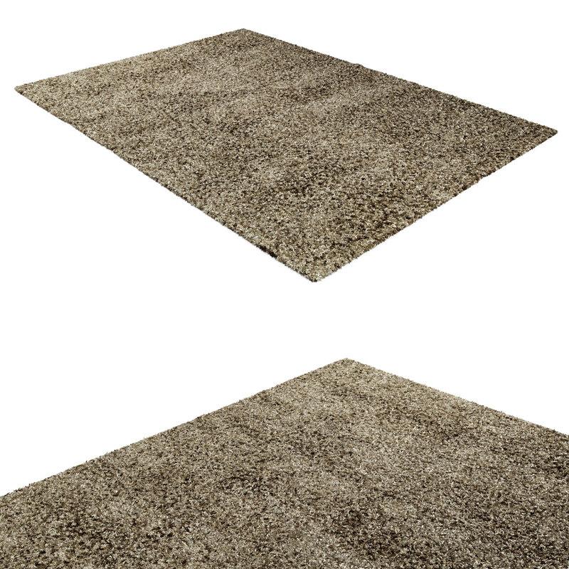 3d afrique rug modeled model
