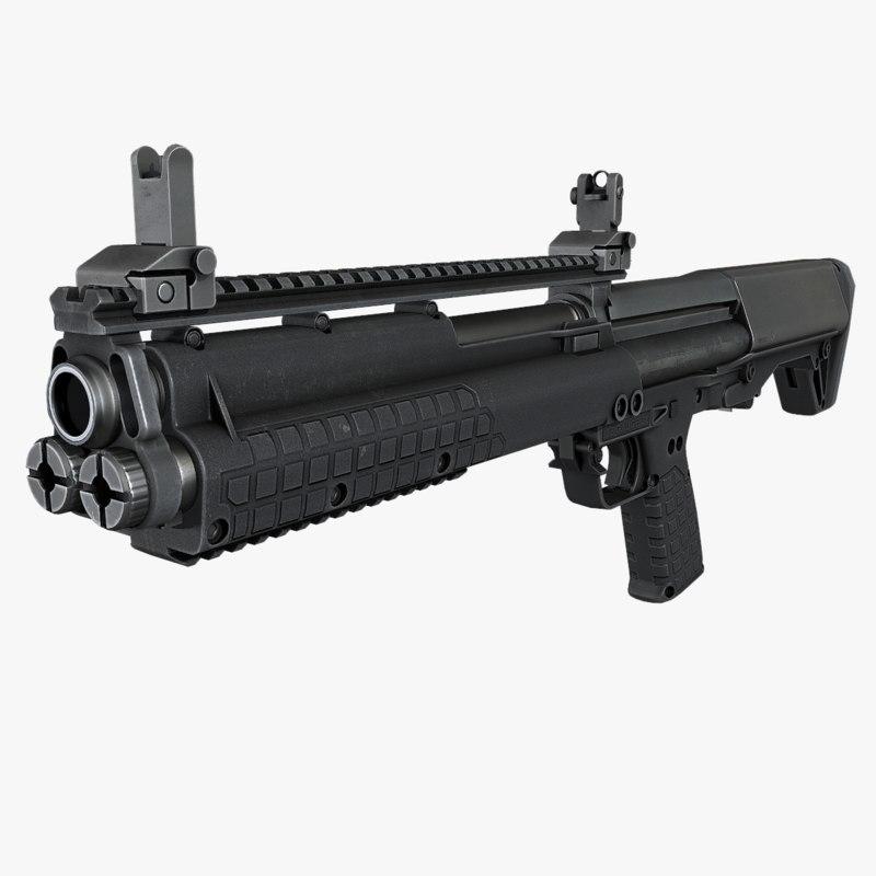 ksg shotgun 3d model