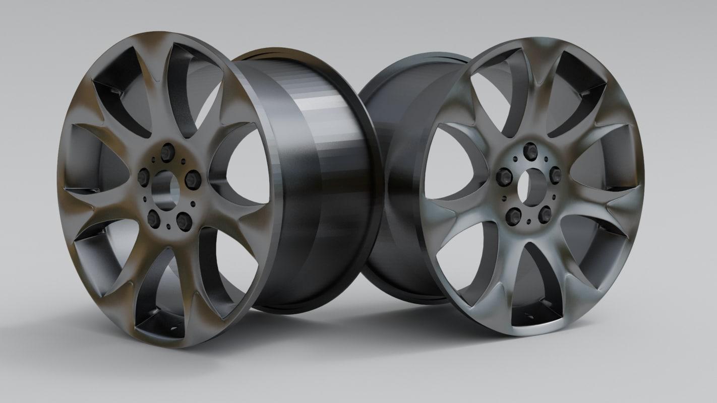 3d car rim sport model
