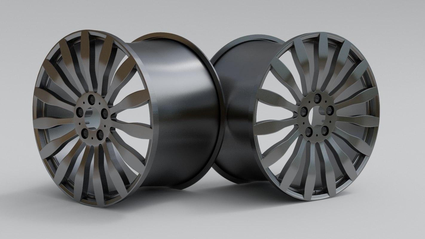 free car rim sport 3d model